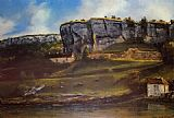 Gustave Courbet Landscape of the Ornans Region painting