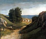 Gustave Courbet Paysage Guyere painting