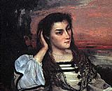 Gustave Courbet Portrait of Gabrielle Borreau painting
