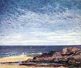 Gustave Courbet Sea coast in Normandy painting