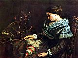 Gustave Courbet Sleeping woman painting
