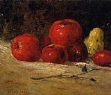 Gustave Courbet Still Life with Pears and Apples 2 painting