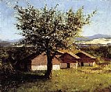 Gustave Courbet Swiss Landscape with Flowering Apple Tree painting