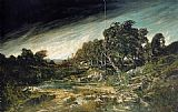 Gustave Courbet The Approaching Storm painting