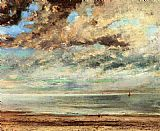 Gustave Courbet The Beach_ Sunset painting