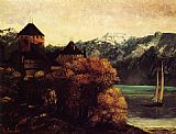 Gustave Courbet The Chateau de Chillon painting