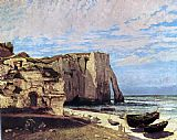 Gustave Courbet The Cliffs of tretat After the Storm painting