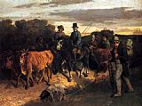 Gustave Courbet The Peasants of Flagey Returning from the Fair_ Ornans painting
