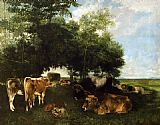 Gustave Courbet The Rest During the Harvest Season painting