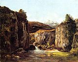 Gustave Courbet The Source among the Rocks of the Doubs painting
