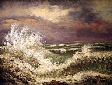 Gustave Courbet The Wave painting