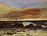 Gustave Courbet The Wave 1 painting