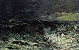 Gustave Courbet The Wave 2 painting