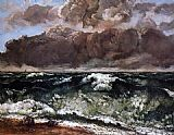 Gustave Courbet The Wave 5 painting