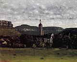 Gustave Courbet View of Ornans and Its Church Steeple painting