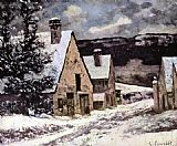 Gustave Courbet Village at winter painting