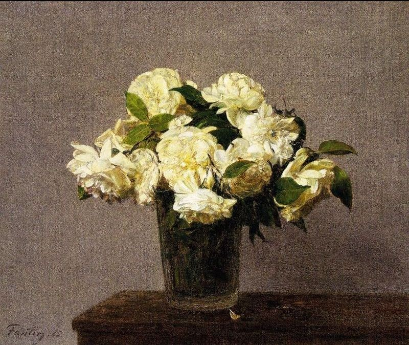 Henri Fantin Latour White Roses In A Vase Painting Best Paintings
