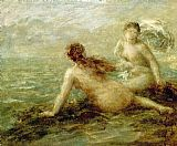 Henri Fantin-Latour Bathers by the Sea painting