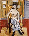 Henri Matisse seatd figure painting