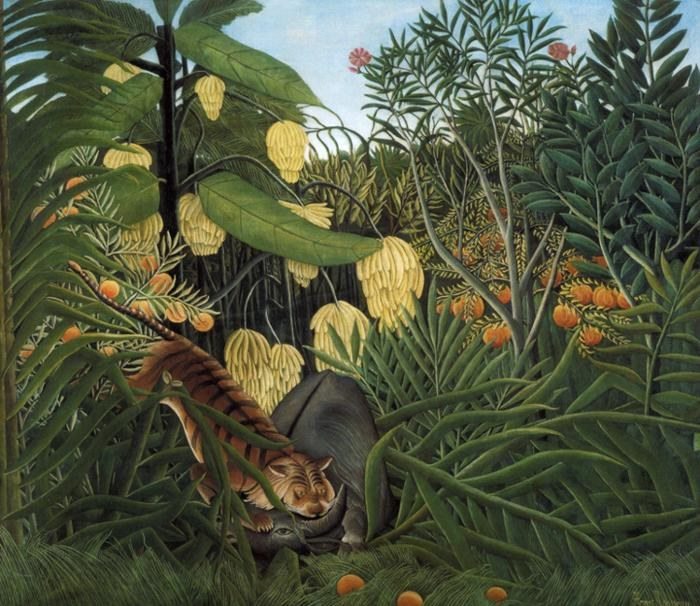 Henri Rousseau Fight Between a Tiger and a Buffalo