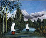 Henri Rousseau Banks of the Oise painting