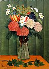 Henri Rousseau Bouquet of Flowers with an Ivy Branch painting