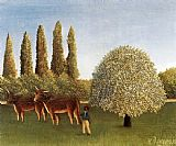 Henri Rousseau The Pasture painting