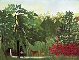 Henri Rousseau The Waterfall painting
