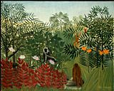Henri Rousseau Tropical Forest with Monkeys painting