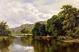 palette knife paintings - Nature's Mirror, on the Banks of the Thames by Henry H. Parker