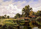 Henry H. Parker The River Loddon, Near Basing, Hants painting
