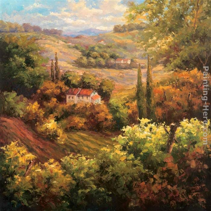 Hulsey mediterranean valley farm painting best paintings for Famous prints for sale