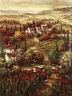 Mediterranean paintings - Tuscan Village by Hulsey