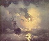 Ivan Constantinovich Aivazovsky Storm in the Sea at Night painting