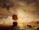 Ivan Constantinovich Aivazovsky The Harbor at Odessa on the Black Sea painting