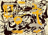 Jackson Pollock Yellow, Grey, Black painting