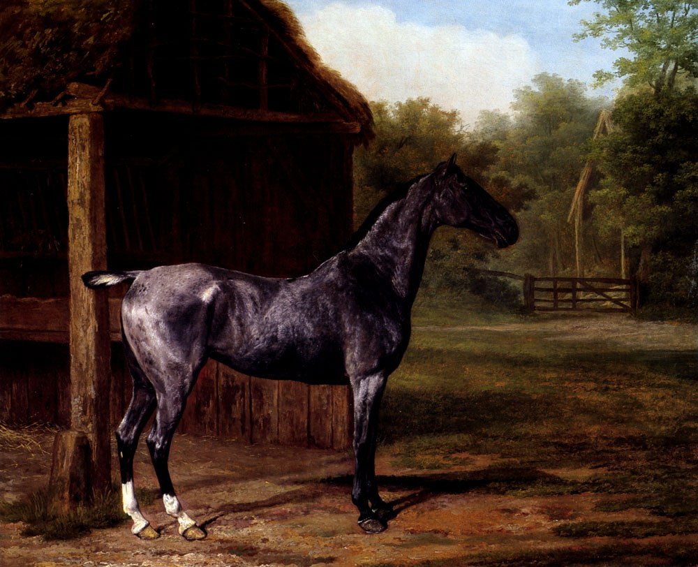 Jacques Laurent Agasse lord Rivers' Roan mare In A Landscape
