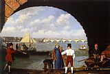Mediterranean paintings - Landing at Westminster Bridge by Jacques Laurent Agasse