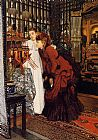 James Jacques Joseph Tissot YOUNG WOMEN LOOKING AT JAPANESE OBJECTS painting