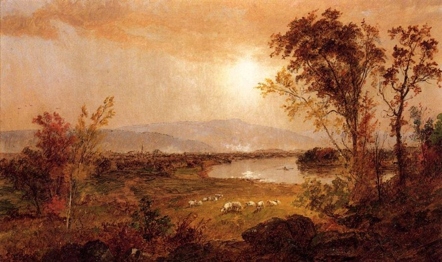 Jasper Francis Cropsey A Bend in the River