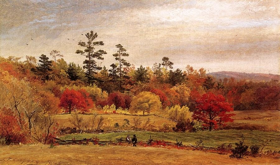 Jasper Francis Cropsey Conversation at the Fence