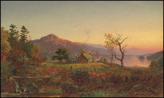 Jasper Francis Cropsey Fisherman's House Greenwood Lake New Jersey