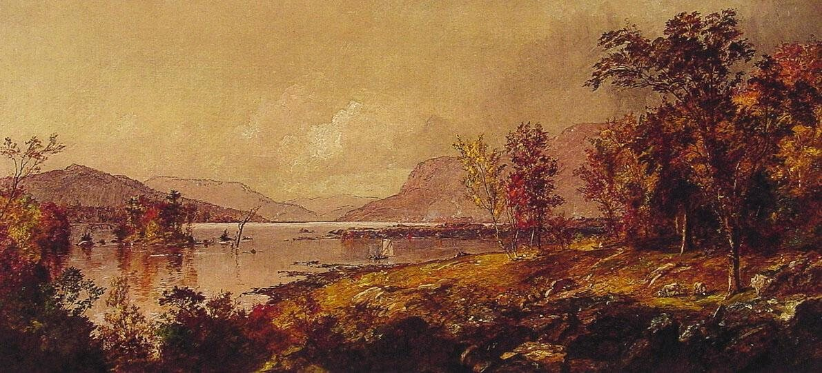 Jasper Francis Cropsey Greenwood Lake,New Jersey,in September