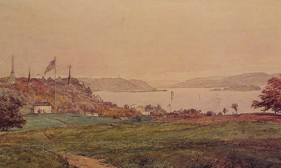 Jasper Francis Cropsey Looking North on the Hudson