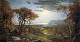 Jasper Francis Cropsey Autnmn on the Hudson River painting