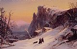 Jasper Francis Cropsey Winter in Switzerland painting