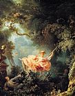 Figure Classic paintings - The Swing 1767 by Jean Fragonard