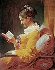 Jean Fragonard Young Girl Reading painting