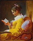 Jean-Honore Fragonard the reader painting