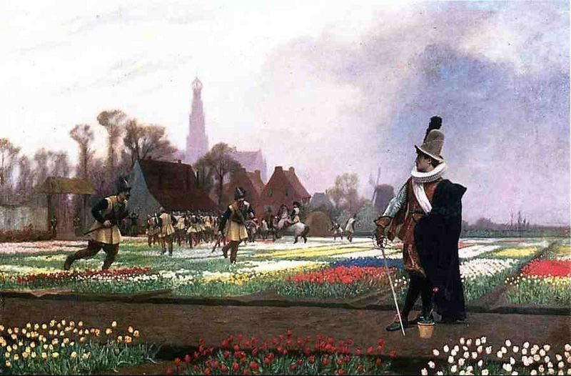Jean-Leon Gerome Duel among the Tulips